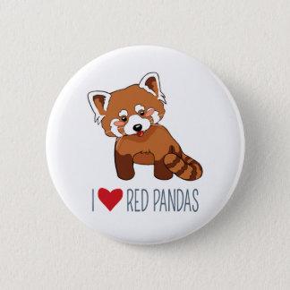 私はレッサーパンダ-漫画のレッサーパンダ--を愛します 缶バッジ