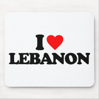 私はレバノンを愛します マウスパッド