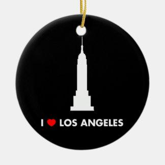 私はロサンゼルス-エンパイア・ステート・ビルディング--を愛します セラミックオーナメント
