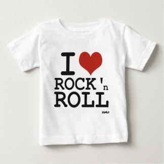 私はロックンロールを愛します ベビーTシャツ