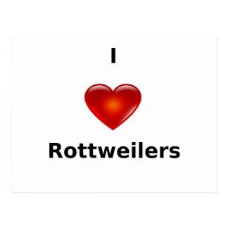 私はロットワイラーを愛します ポストカード