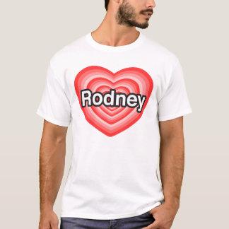 私はロドニーを愛します。 私はロドニー愛します。 ハート Tシャツ