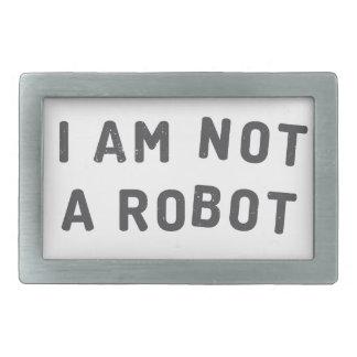 私はロボットではないです 長方形ベルトバックル