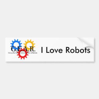 私はロボットを愛します バンパーステッカー