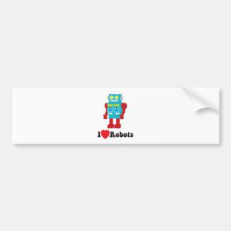 私はロボットを愛します! バンパーステッカー
