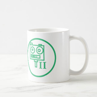 """""""私はロボット""""を記章を付けます造ります(水平なII) コーヒーマグカップ"""