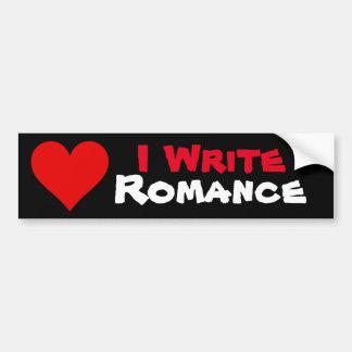 私はロマンスのバンパーステッカーを書きます バンパーステッカー