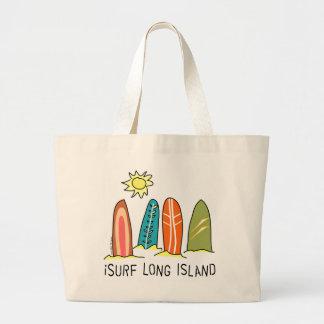 私はロングアイランドをサーフします ラージトートバッグ