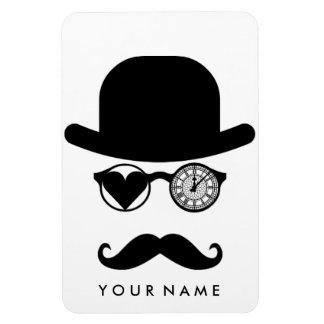 私はロンドンの口ひげのビッグベンの時計を愛します マグネット