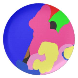 私はローイのファンキーなプレートによって-近代美術会うことができます プレート