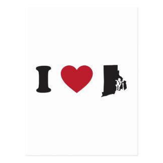 私はロードアイランドを愛します ポストカード
