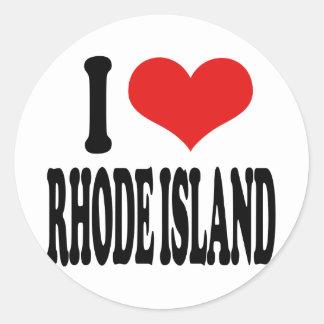 私はロードアイランドを愛します ラウンドシール