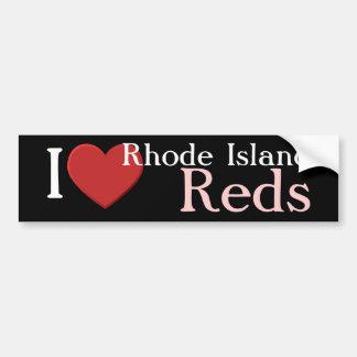 私はロードアイランド赤のバンパーステッカーを愛します バンパーステッカー