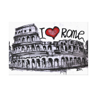 私はローマを愛します キャンバスプリント
