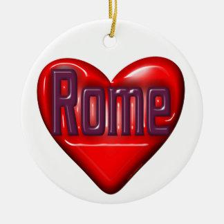 私はローマを愛します セラミックオーナメント