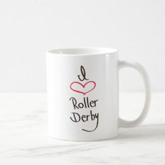 私はローラーダービーを愛します コーヒーマグカップ