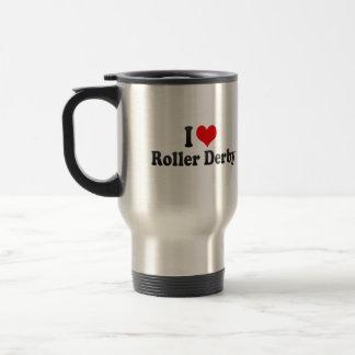 私はローラーダービーを愛します トラベルマグ