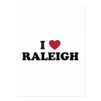 私はローリーノースカロライナを愛します ポストカード
