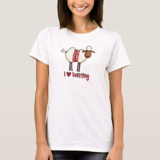 私はワイシャツを編むことを愛します Tシャツ
