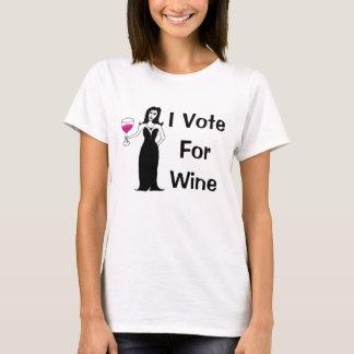 私はワインのために投票します Tシャツ
