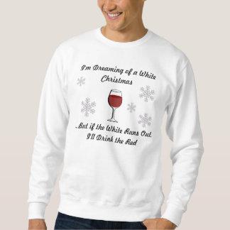 私はワインのクリスマスのスエットシャツの夢を見ています スウェットシャツ