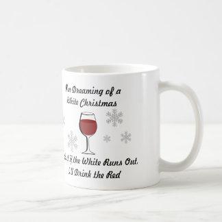 私はワインのクリスマスのマグの夢を見ています コーヒーマグカップ