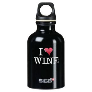私はワインのハートのワインの熱狂者を愛します ウォーターボトル