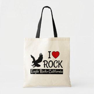 私はワシの石、カリフォルニアハートを愛します トートバッグ