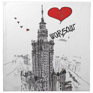 私はワルシャワを愛します ナプキンクロス