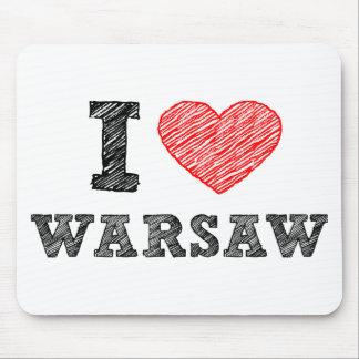 私はワルシャワを愛します マウスパッド