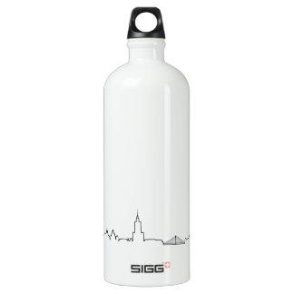 私はワルシャワ(ecgのスタイル)の記念品を愛します ウォーターボトル