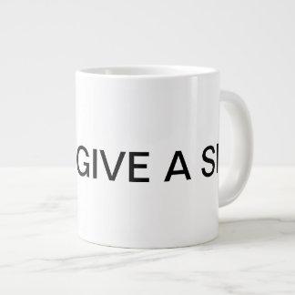 私は一口のジャンボマグを与えません ジャンボコーヒーマグカップ