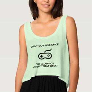 私は一度おもしろいな賭博のTシャツ外側のゲーマーのための行きました タンクトップ