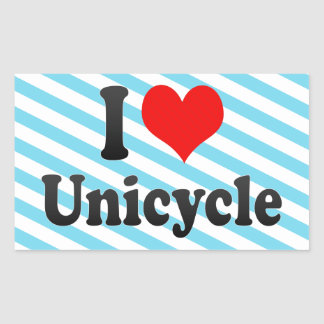 私は一輪車を愛します 長方形シール