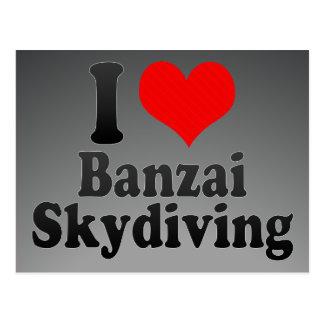 私は万歳Skydivingを愛します ポストカード