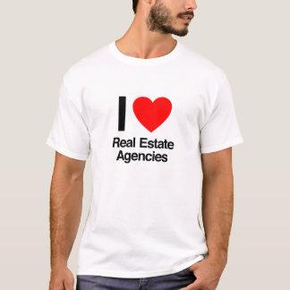 私は不動産業を愛します Tシャツ