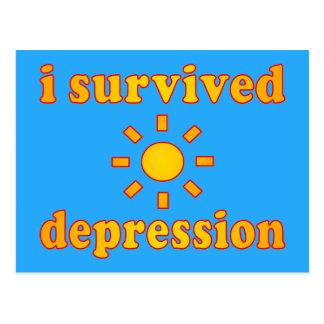 私は不況の精神衛生の幸福を生き延びました ポストカード