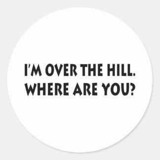 私は丘にあります。  どこにいますか。 ラウンドシール