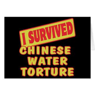 私は中国のな水苦悶を生き延びました カード