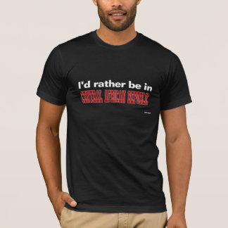 私は中央アフリカにむしろいます Tシャツ