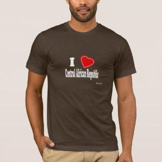 私は中央アフリカを愛します Tシャツ