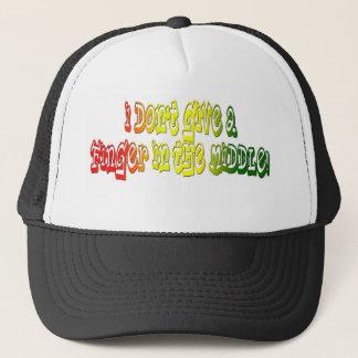 私は中間の帽子の指を与えません キャップ