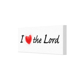 私は主を愛します キャンバスプリント