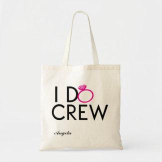 私は乗組員の新婦付添人のトートをします トートバッグ