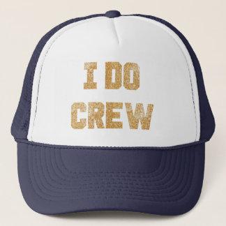 私は乗組員の金ゴールドのグリッターの花嫁のバチェロレッテの帽子をします キャップ