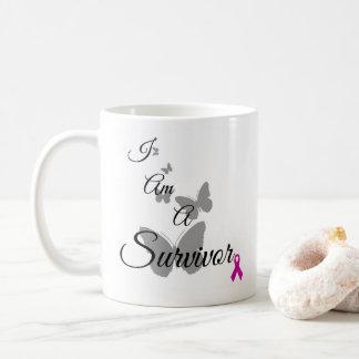 私は乳癌の生存者のマグです コーヒーマグカップ