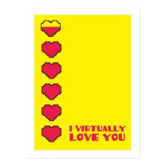 私は事実上デジタルハート愛します ポストカード