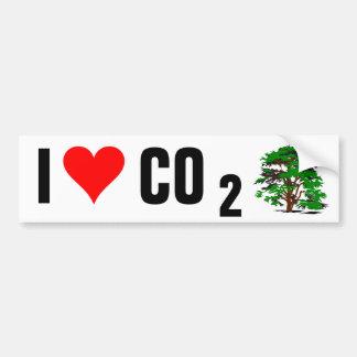 私は二酸化炭素のバンパーステッカーを愛します バンパーステッカー