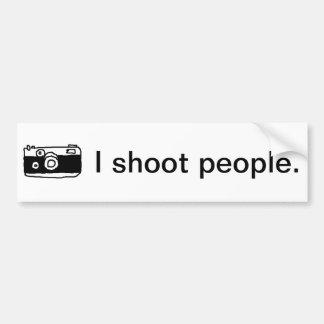 私は人々のバンパーステッカーを撃ちます バンパーステッカー