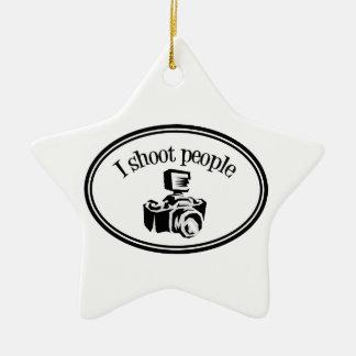 私は人々のレトロのカメラマンのカメラB&Wを撃ちます セラミックオーナメント